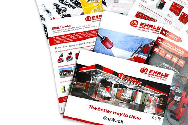 EHRLE Download Bereich: Preislisten, Prospekte und CarWash Katalogen