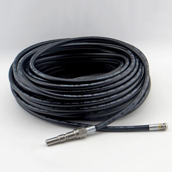 Kanalreinigungsschlauch Kunststoff, schwarz DN05