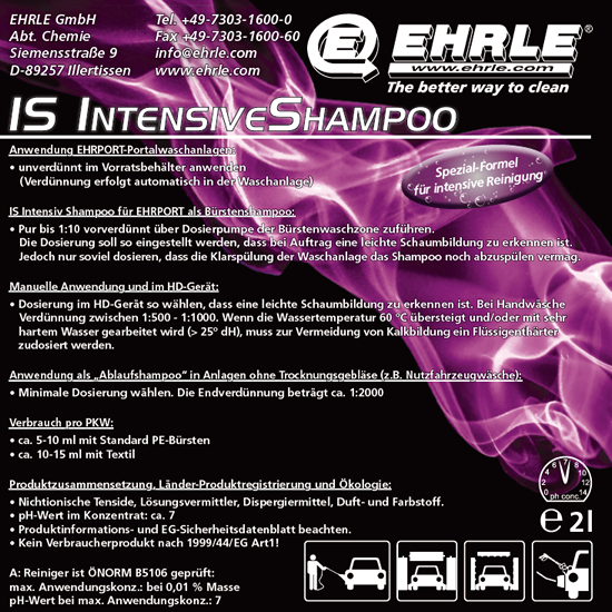 EHPRORT Chemie - IS IntensivShampoo