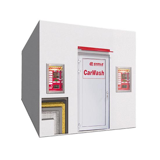 Beton Fertigteil Technik Container mit Vollwärmeschutz